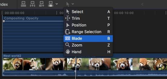 Blade στο Final Cut Pro