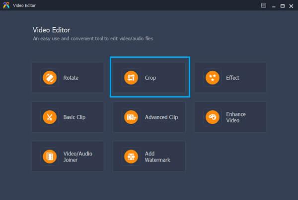 Funzione di ritaglio dell'editor video