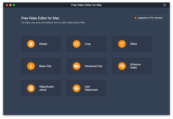 Aiseesoft Free video Editor for Mac full screenshot