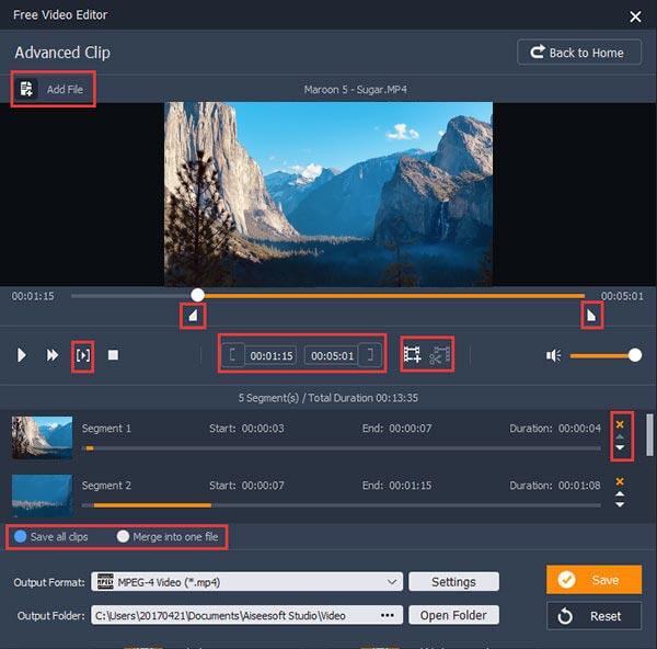 分割MP4視頻文件