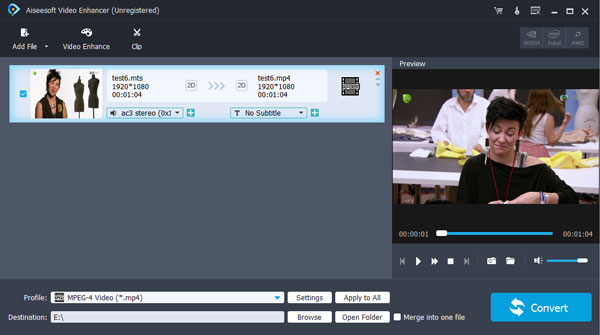 Enhance video quality and convert to any other popular video format. good Screen Shot