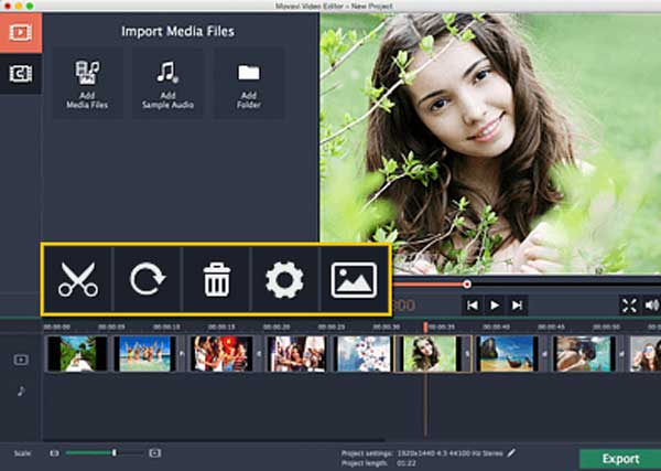 Πρόγραμμα επεξεργασίας βίντεο MOVAVI για Mac