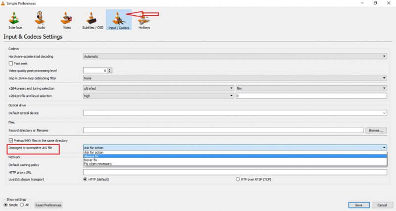 VLC始終修復