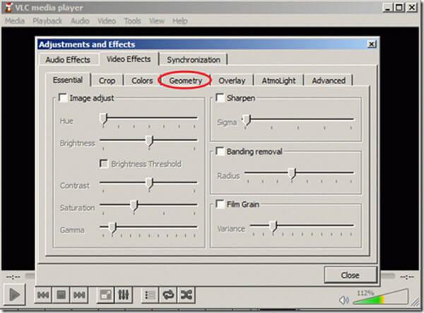 VLC Obróć wideo Geo