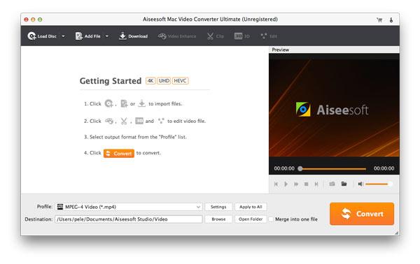 Ξεκινήστε το VOB Converter για Mac