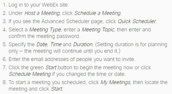 Partecipazione alla riunione WebEx