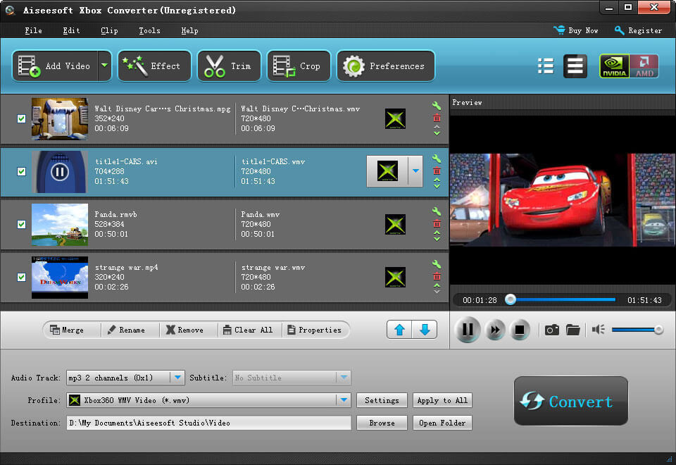 Click to view Aiseesoft Xbox Converter screenshots