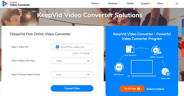 KeepVid Convertitore video online gratuito
