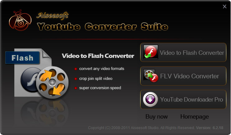 Aiseesoft Youtube Converter Suite Screen shot