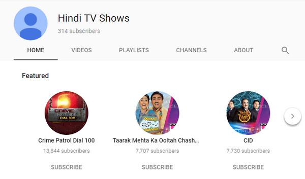 Programmi TV Hindi