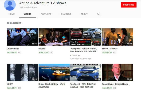 Programmi TV di azione e avventura