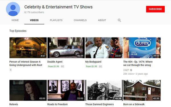Τηλεοπτικές εκπομπές διασημοτήτων και ψυχαγωγίας