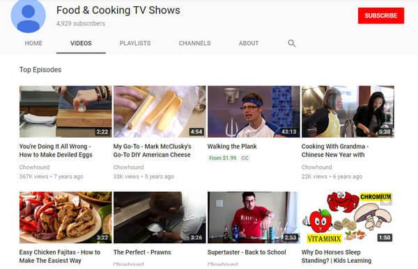 Programmi TV su cibo e cucina