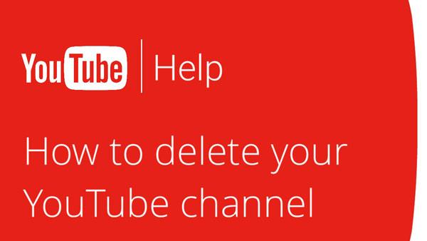 Διαγραφή καναλιού YouTube