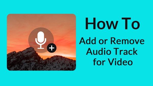 Aggiungi o rimuovi traccia audio