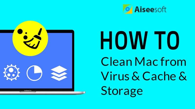 Καθαρίστε το Mac από ιούς & προσωρινή μνήμη & αποθήκευση