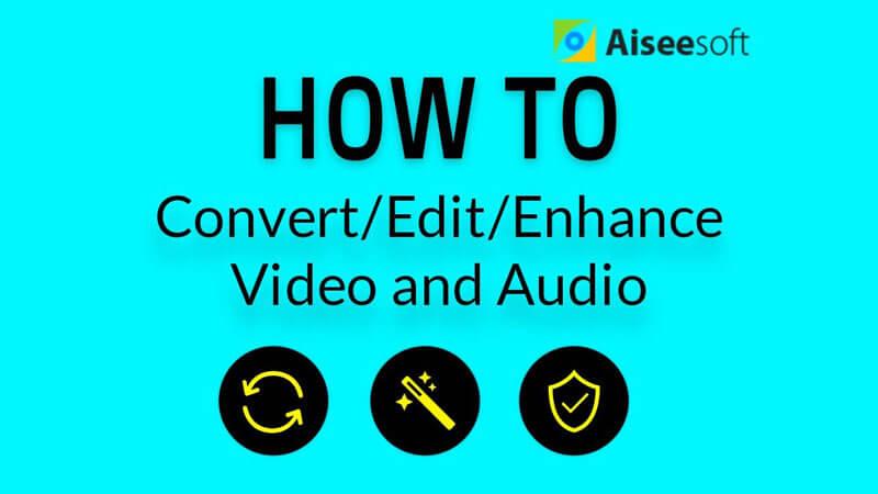 Conversione video Modifica Migliora audio video