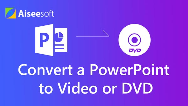 Converti un PowerPoint in video o DVD