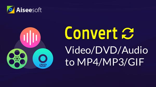 Converti video / DVD / audio in MP4 / MP3 / GIF / Midi / digitale