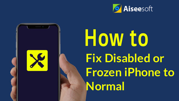 Video Fix Disabled Frozen-iPhone to Normal
