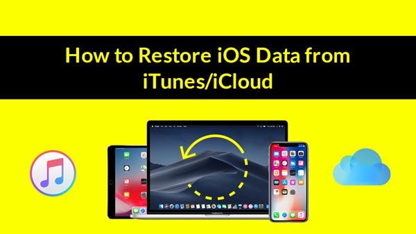 Przywróć dane iOS z iTunes lub iCloud