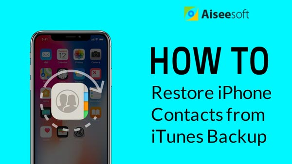 [Επίλυση] Επαναφορά επαφών iPhone από το iTunes Backup