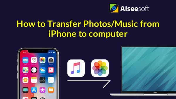 Trasferisci foto musicali da iPhone a computer