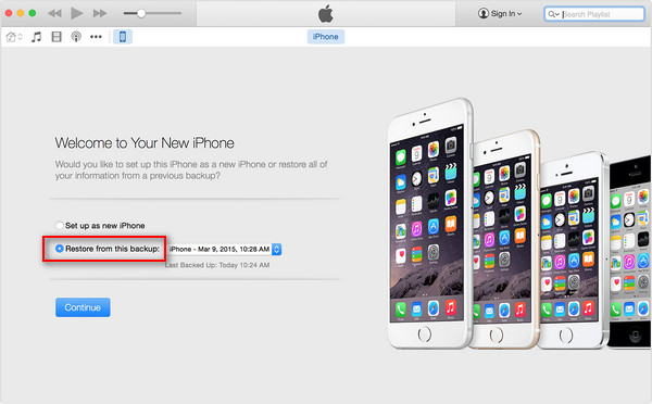 Restore iPhone Text Messages from iTunes